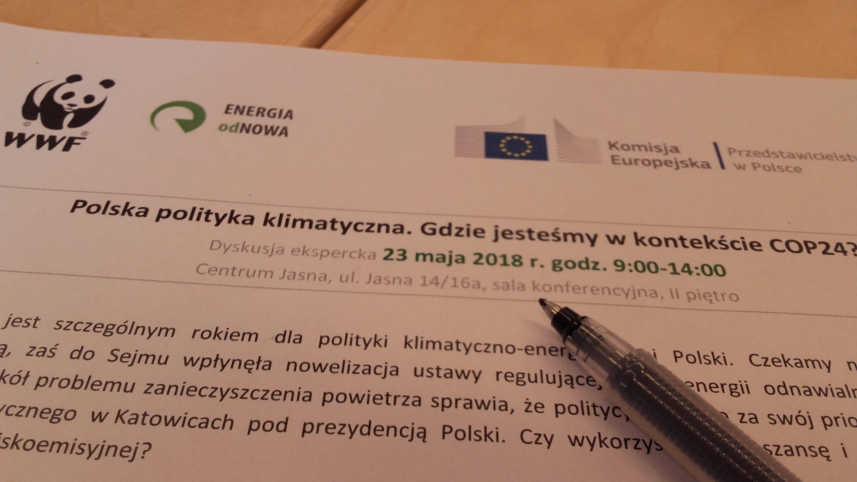 Debata ekspercka zorganizowana przez WWF i Przedstawicielstwo Komisji Europejskiej w Polsce